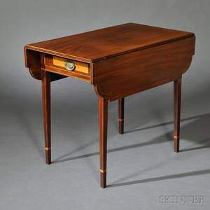 George III Mahoganyveneered and Satinwoodinlaid Pembroke Table