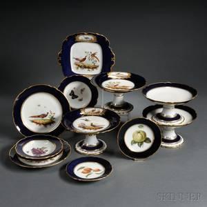 Assembled Paris Porcelain Handpainted Dessert Service
