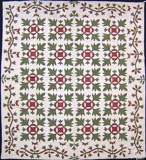 New Jersey applique quilt mid 19th c