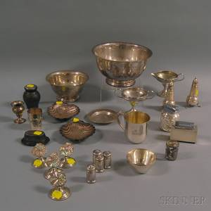 Group of Small Mostly Sterling Silver Tableware