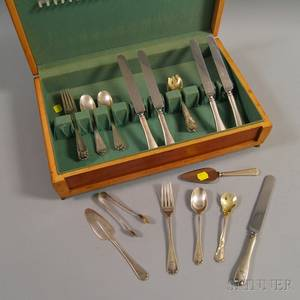 Small Group of Tiffany and Gorham Sterling Silver Flatware