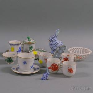 Fourteen Pieces of Herend Porcelain