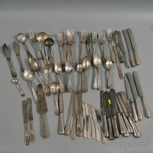 Large Group of Assorted Sterling and Coin Silver Flatware