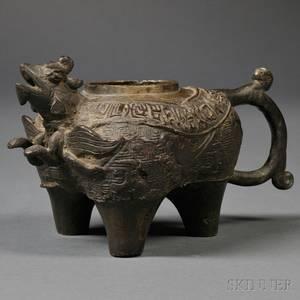 Bronze Animalshape Vessel