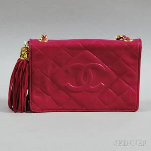 Chanel Pink Quilted Lambskin Shoulder Bag