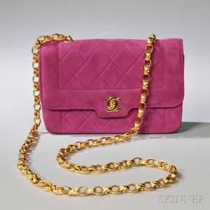 Chanel Magenta Quilted Lambskin Shoulder Bag