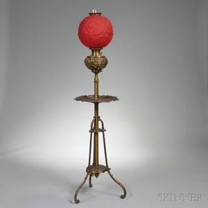 Bradley  Hubbard Brass Kerosene Floor Lamp