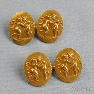 Antique 18kt Gold Cuff Links Tiffany  Co