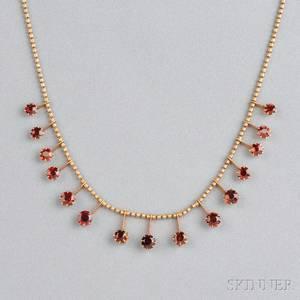 Antique 14kt Gold and Garnet Necklace