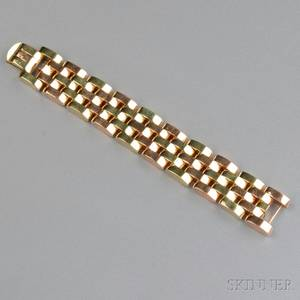 Retro 14kt Bicolor Gold Bracelet