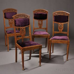Four Arts  Crafts Side Chairs