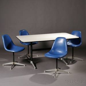 Eames for Herman Miller Table and Five Chairs