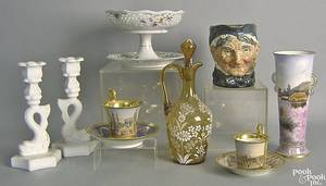 Porcelain and glass to include Bavaria