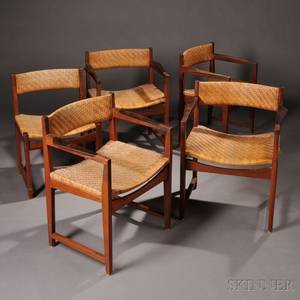 Five Peter Hvidt and Orla MlgaardNielsen Dining Chairs