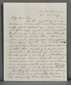Davis Jefferson 18081889 Archive of Correspondence with John W French 18081871