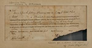 Randolph Thomas Jefferson 17921875 Receipt for Moses Gillette 1 January 1829