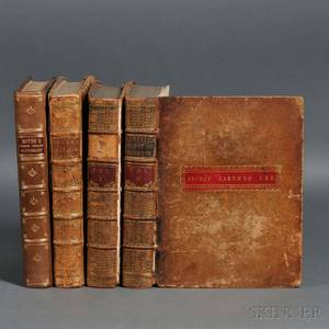 Dictionaries EnglishItalian and EnglishFrench Four Volumes 1750s
