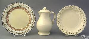 Creamware pitcher early 19th c