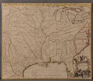Louisiana Texas Gulf Coast Great Lakes and the Mississippi John Senex 16781740 A Map of Louisiana and of the River Mississippi