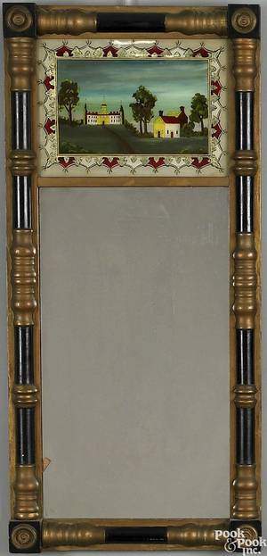 Late Federal painted mirror ca 1840