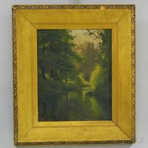 Charles Harold Davis American 18561933 Barbizon Landscape