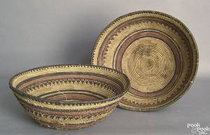 Two South American woven baskets