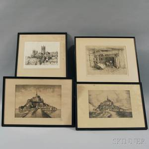 Four Framed Prints Sears Gallagher American 18691955 Kitchen Old Fairbanks House