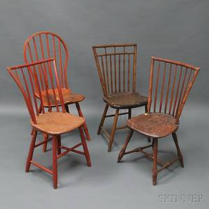 Four Windsor Side Chairs