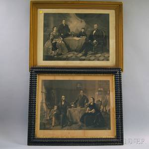 Two Framed 19th Century Lincoln Family Prints