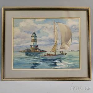 Yngve Edward Soderberg American 18961971 East Coast Lighthouse