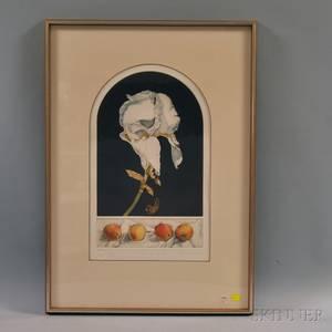 Theodora Varnay Jones HungarianAmerican 20th Century Iris and Peaches