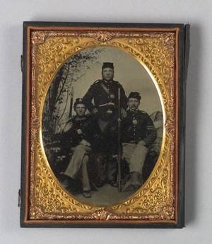 Tintype Group of Three Soldiers