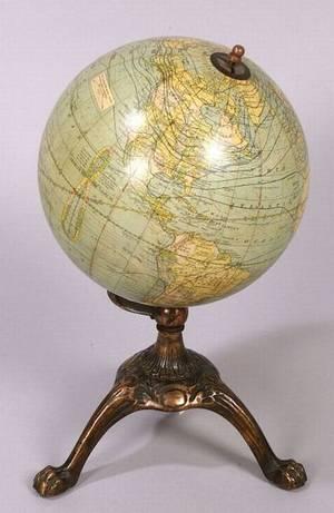 8inch Schools Terrestrial Globe by GW Bacon  Co