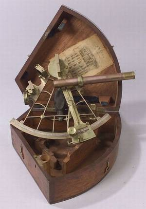 Brass 8inch Radius Sextant by Spencer Browning  Co
