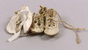 Two Pair of White Shoes for Small Dolls