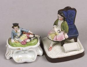 Two Early China Figurines one an Inkwell