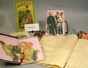 A Childs Collection of Paper Dolls and Ephemera