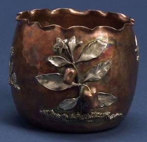Gorham Aesthetic Movement Mixed Metal Vase