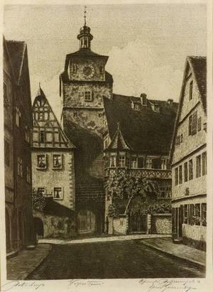 Lot of Eight European Views Various Artists Including Alfred Joseph Auguste van Neste Belgian 18741969