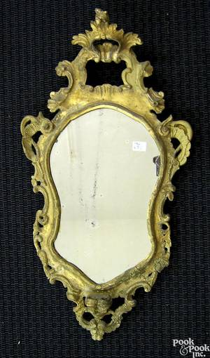Carved giltwood mirror