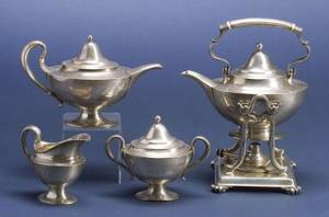 Tiffany  Co Four Piece Sterling Tea Service
