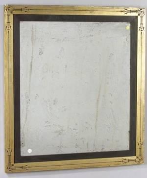 Eastlake Parcel Gilt and Ebonized Mirror