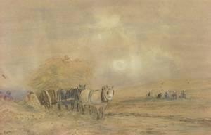 Attributed to David Cox Junior British 18091885 Haying