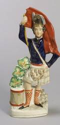Staffordshire Pottery Figure of a Highland Soldier