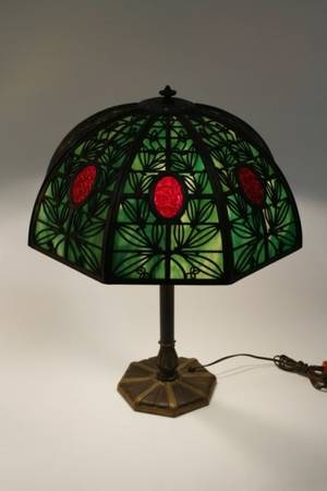 Bradley  Hubbard Eight Panel Lamp