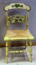 L Hitchcock Painted and Christmas Stenciled Scenic Decorated Presentation Chair