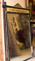 Eastlaketype Ebonized Mirror with Polychrome Frieze