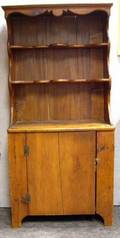 Country Pine Pewter Cupboard