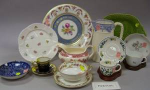 Approximately Sixtytwo Pieces of Assorted European Decorated Porcelain Tea and Tableware