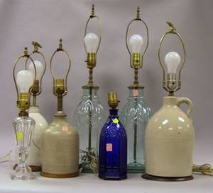 Seven Decorative Table Lamp Bases